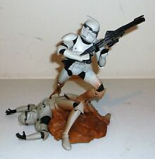 Hasbro Star Wars Unleashed White Clone Trooper Action Figure Loose Used Complete