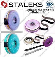 New Staleks Nail file refill roll 100 grit,180 grit,240 grit, Metal base