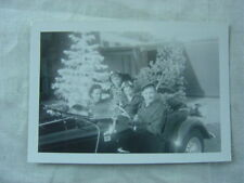 Vintage Photo Family w/ Christmas Tree in Mg Sports Car 791