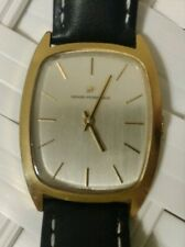 Elegant Vintage Girard Perregaux Gold Mechanical Men's Dress Watch Tonneau Swiss