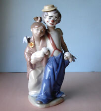Lladro PALS FOREVER Society Clown Girl & Puppies Figurine #07686 Boxed New