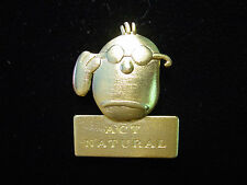 """""""JJ"""" Jonette Jewelry Gold Pewter 'Act Natural' FACE Pin by J. Benton"""
