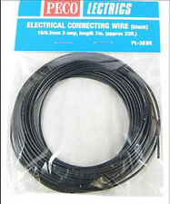 PECO PL-38BK 1 x Black 7.0m 16/0.2mm 3amp Model Railway Layout Wire Roll 1stPost