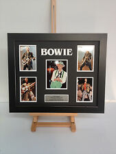 UNIQUE PROFESSIONALLY FRAMED, SIGNED DAVID BOWIE PHOTO COLLAGE WITH PLAQUE.