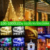LED Fairy String Light 100-1000LEDs Christmas Party Wedding Outdoor Garden Decor