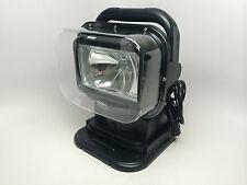 #RV MARINE BOAT BLACK SPOTLIGHT PORTABLE WIRELESS REMOTE CONTROL RUBBER BASE