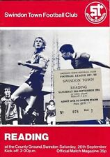 Away Teams Reading Football Programmes with Match Ticket