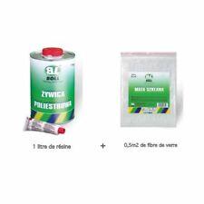BOLL - Resine polyester 1 kilo + catalyseur + fibre de verre, auto