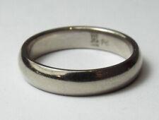 Vintage JAMES AVERY 14K White Gold Palladium Ring Smooth Band Sz 6.25 Wedding