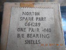 06-4289 norton vintage b/e rod bearing shells .040