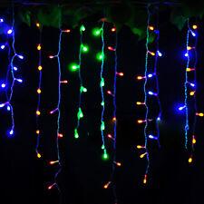 220V 96~480 LED String Fairy Lights Xmas Wedding Party Decor Icicle Curtain Lamp
