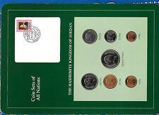 Coin Sets of All Nations Jordan 1978-1984 UNC quarter Dinar 1981