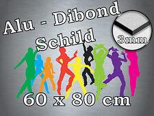 Werbeschild Schild aus Alu-Dibond 3 mm, Ihr Projekt, 60x80 cm