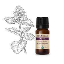 Organic Mentha piperita (Peppermint) essential oil USDA certified 10ml. Mint