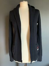Hollister Navy Edge To Edge Cotton Mix Cardigan Size S