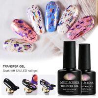 MEET ACROSS Starry Sticker Adhesive Foil Transfer Gel Glue Manicure UV Nail Gel
