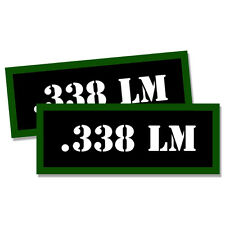338 LM Ammo Can Labels Ammunition Case stickers decals Lapua 2 pack 3x1.15inch