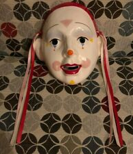 About Face Clown Mask Mime Wall Hanging Vintage 1983 RARE 1980s Retro Original