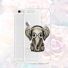 Clear Cute Elephant Rubber Phone Case TPU Shockproof Cover Shell for Cell Phones