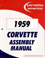 1959 Chevrolet Corvette Assembly Manual Book Rebuild Instructions Illustrations