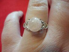 Morganite & White Topaz Ring in 925 Sterling Silver-Size 8-3.13 Carats