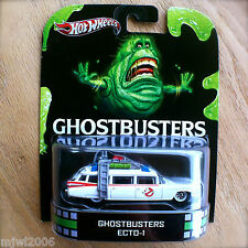 Hot Wheels GHOSTBUSTERS ECTO-1 Diecast RETRO ENTERTAINMENT ECT0-1 2013 INTL CARD