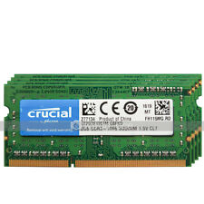Crucial 8GB 4x2GB PC3-8500 DDR3 1066MHz 204Pin Unbuffered SODIMM Laptop Memory