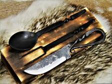 Mittelalter Besteck Set,handgeschmiedet  Mittelalter Stahl messer 4209