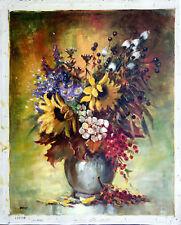 """Still Life Vase of Flowers"" Vintage Oil on Canvas  Signed by Artist: Rolf Marec"