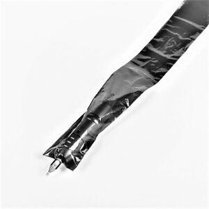 125 Stk. Clip Cord & Pen Tattoo Maschinen Schutzhüllen Schwarz 5cm x 81cm.,