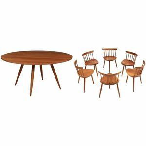 Magnificent Early Set of Round Table with Mira Chairs by George Nakshima