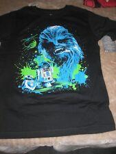 Medium Boys Star Wars Chewbacca Black Disney Store Tee Shirt NWT