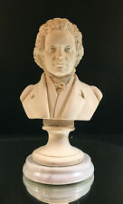 BEETHOVEN--BUST--MARBLE BASE--NICE DETAIL--4 POUNDS--SIGNED--BUY IT NOW!