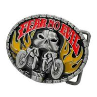 Belt Buckle tattoo vintage trucker cowboy luckyr13 biker motorcycle evil fear