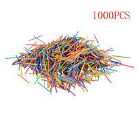1000PCS Colored Craft Match Sticks Multi-Color Red Blue Green Yellow Orange *u