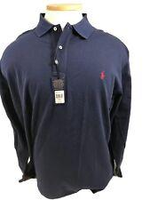 NWT 4XB Big Man NAVY BLUE POLO by Ralph Lauren Long Sleeved Shirt Retail $95.00
