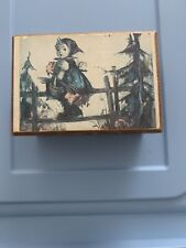 Vintage Thorens Music Box With Little Boy Hummel Picture /Song Lara's Theme