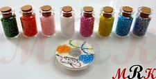 Bundle Job Lot 8x Packs Round Beads With threat for Jewellery Making/ Decoration