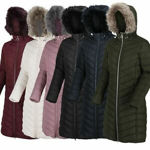 Regatta Womens Fritha Insulated Lined Baffle Quilted Hooded Coat  Long Jacket