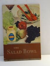 1930 Original Best Foods The Salad Bowl  **  FREE SHIPPING  **