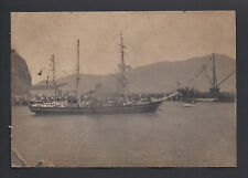 Rare Photo Nimrod Ernest Shackleton's Ship at Lyttleon 1908 Antarctic Expedition