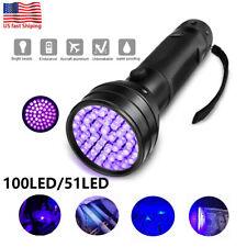 100/51LED Black UV UltraViolet Blacklight Flashlight Lamp Torch Purple Light USA
