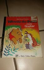 Winnie the Pooh Meets Gopher by A. A. Milne (1977, Hardcover);Little Golden Book
