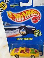 Hotwheel 80's Firebird Yellow with Green Bird on Hood Number 30 rare