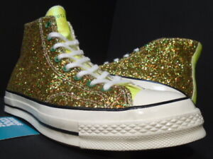 CONVERSE CHUCK TAYLOR 70 HI JW ANDERSON GLITTER PACK GOLD SILVER 164696C 10.5