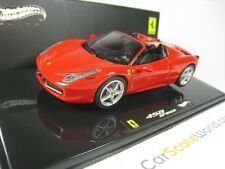 FERRARI 458 SPIDER 1/43 HOTWHEELS ELITE (ROUGE)