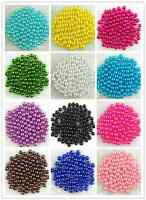 Children DIY 500Pcs Acrylic Round Pearl Spacer Loose Beads 6mm