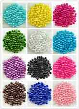 DIY 500Pcs Acrylic Round Pearl Spacer Loose Beads 6mm Crafts DIY Jewelry Making