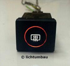 VW Golf 3 Schalter Heckscheibenheizung rund BLAU WEISS ROT Wunschfarbe LED