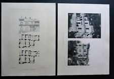 Architettura 2 tavole VILLA FASOLA a MOLTRASIO Arch. Guido Sartirana anni '20
